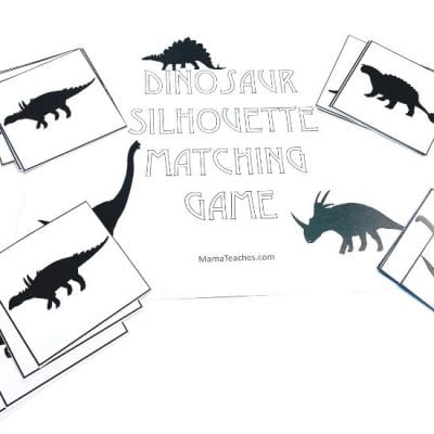 Dinosaur Memory Match Game for Preschoolers