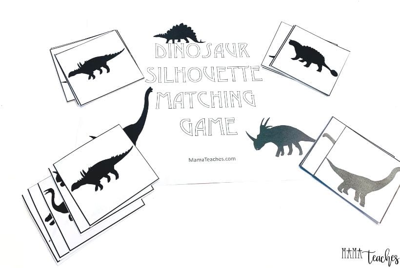 Dinosaur Memory Match Game for Preschoolers