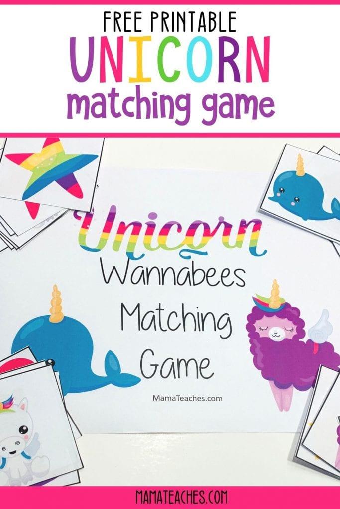 Unicorn Matching Game