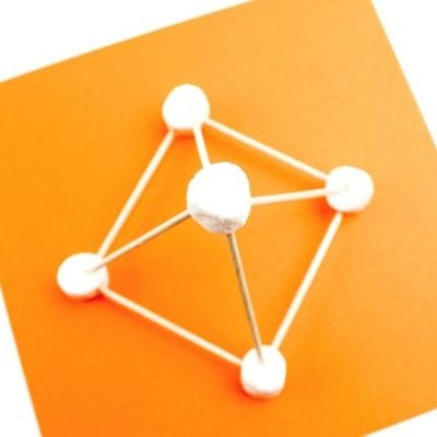 Marshmallow Geometry Shapes Activity - MamaTeaches