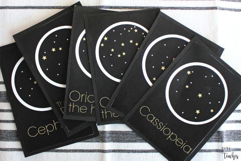 Printable Constellation Cards for Kids to Teach Kids About Constellations - MamaTeaches