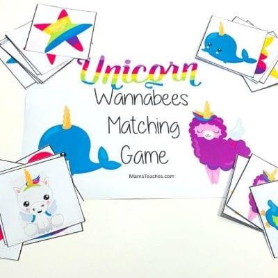 Unicorn Wannabee Matching Game