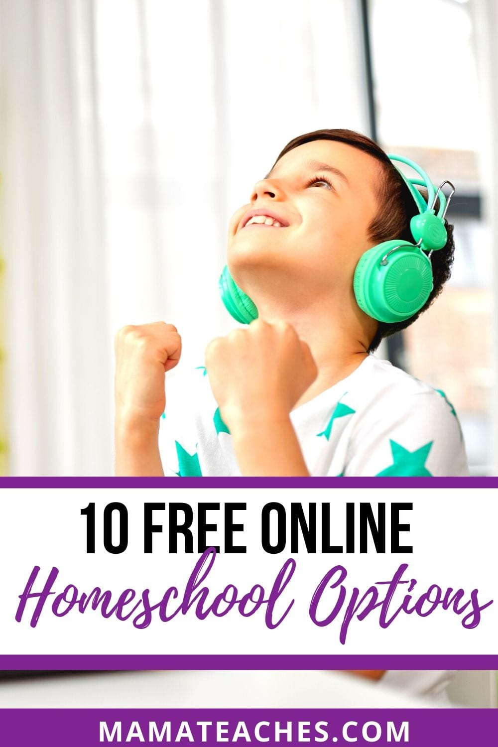 10 Free Online Homeschool Options - Get excited as this little boy who is doing work from home online with these 10 free online homeschooling sites.