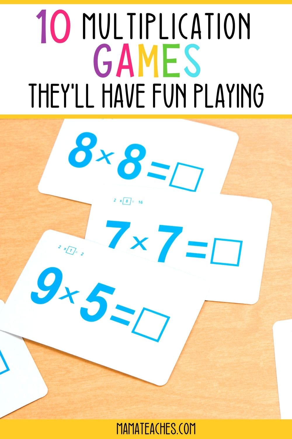 10 Multiplication Games They'll Have Fun Playing