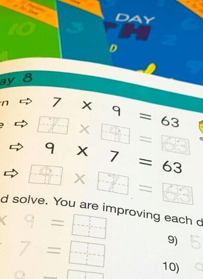 Page a Day Math Multiplication Worksheets for Kids