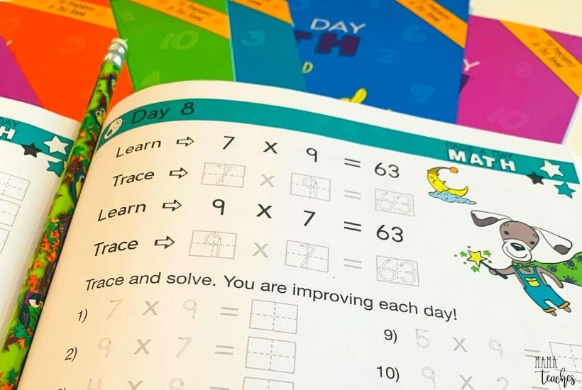 Page a Day Math Multiplication Worksheets