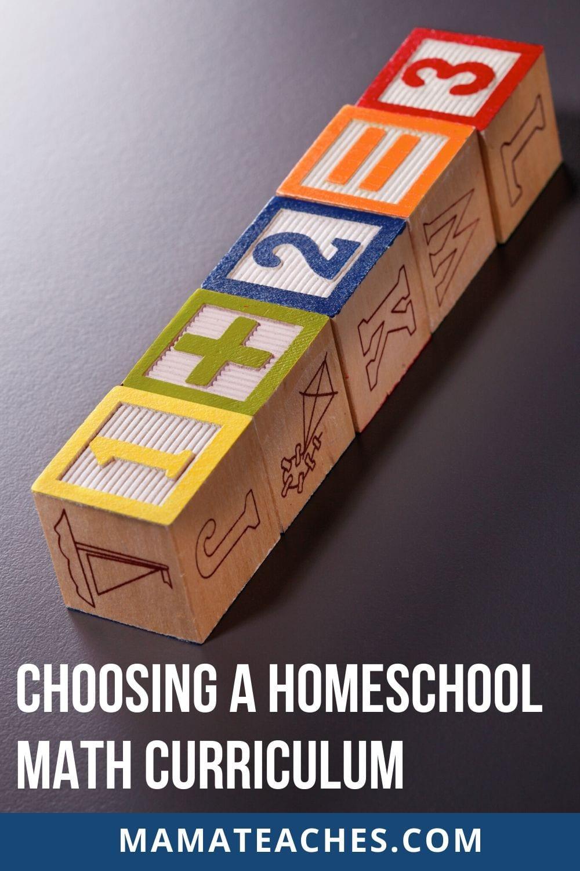 Choosing a Homeschool Math Curriculum - MamaTeaches