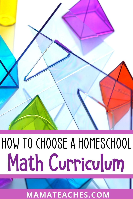 How to Choose a Homeschool Math Curriculum - MamaTeaches.com