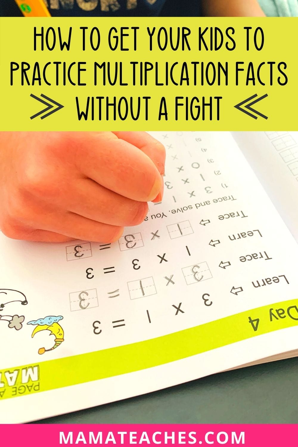 How to Get Your Kids to Practice Multiplication Facts Without a Fight