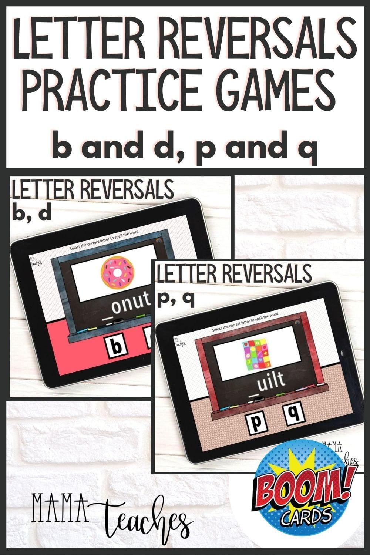 Letter Reversals Practice Games Bundle