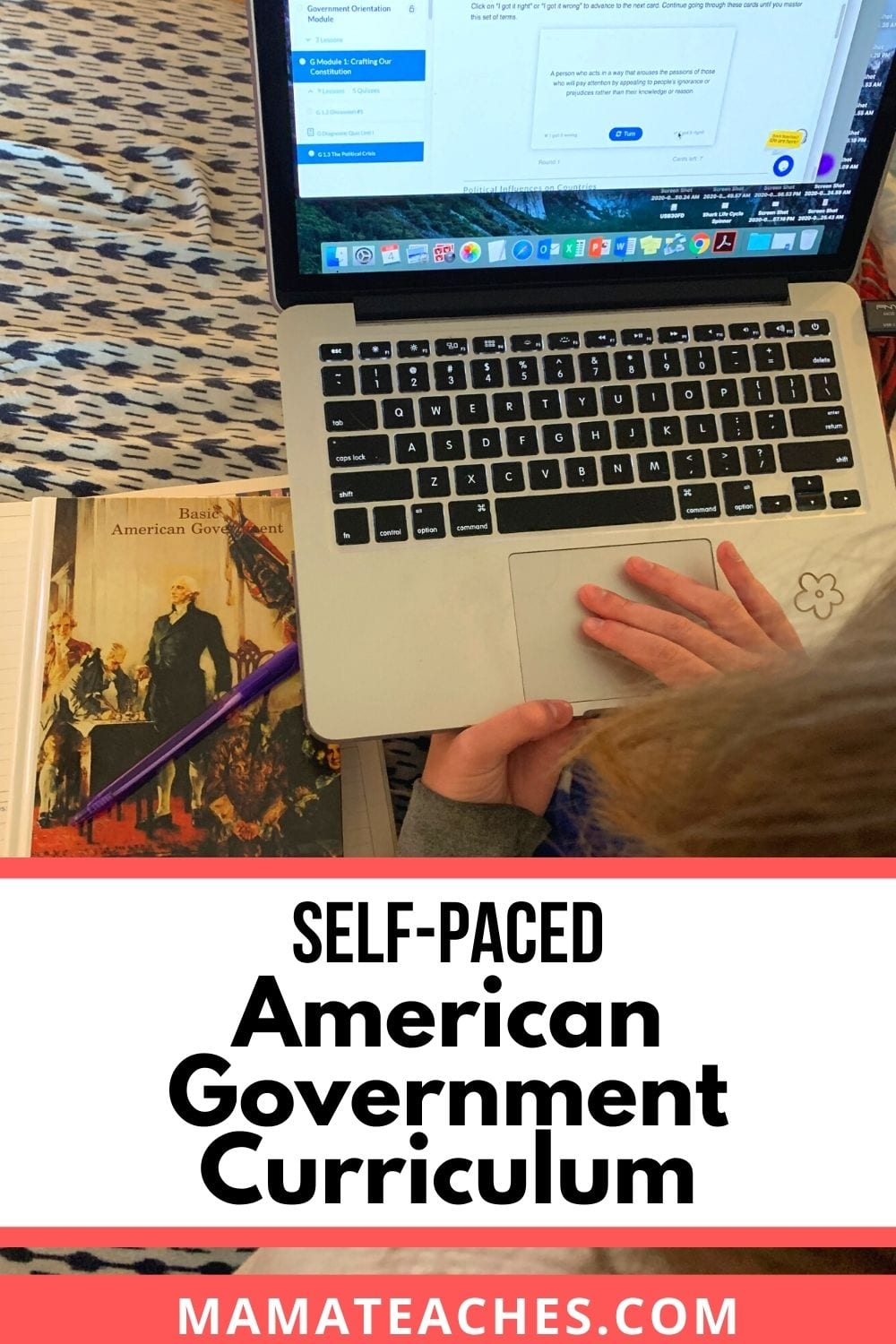 Self-Paced American Government Curriculum for Homeschoolers