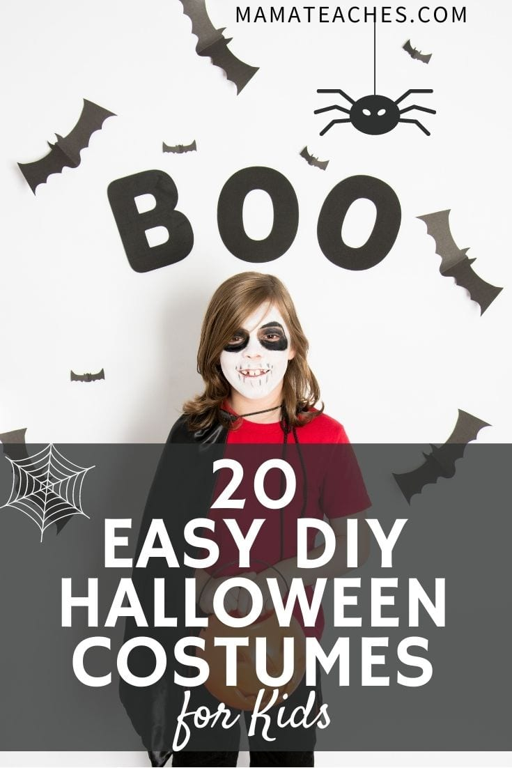 20 Easy DIY Halloween Costumes for Kids - MamaTeaches.com