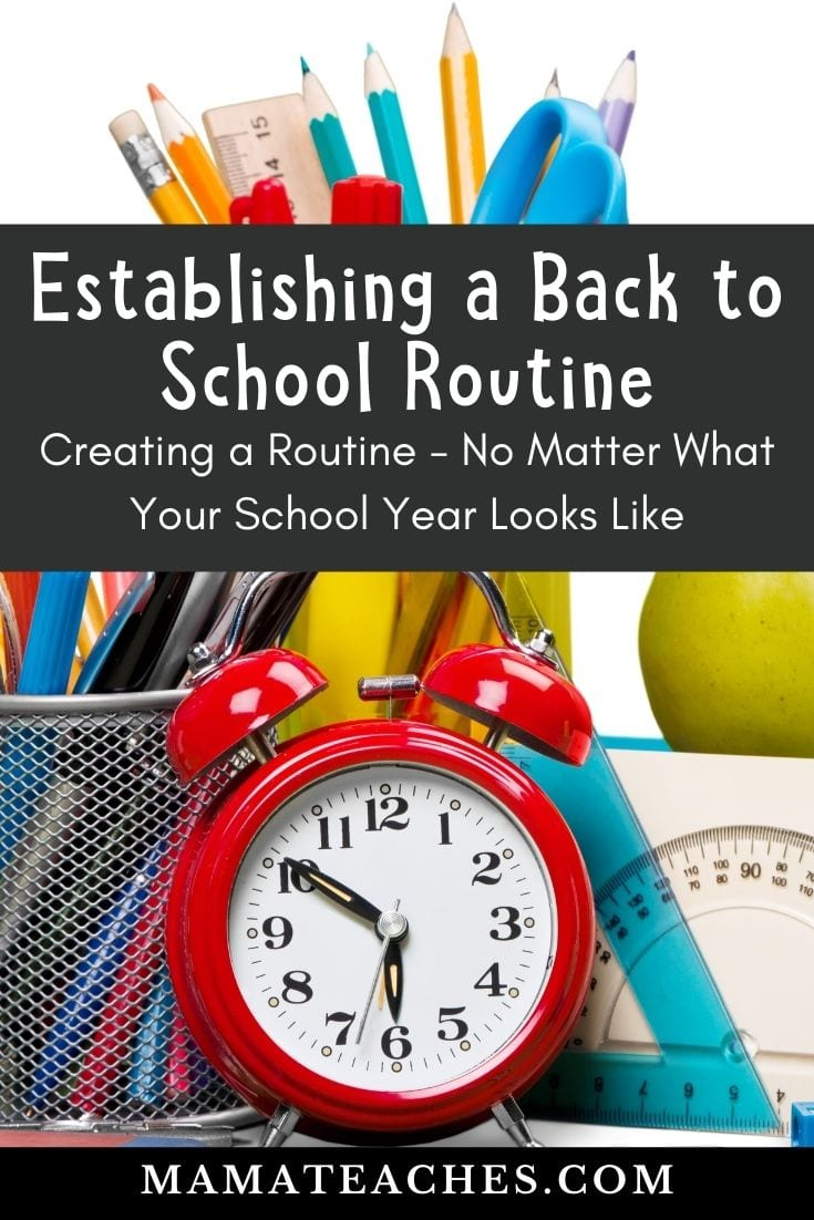 Establishing a Back to School Routine - No Matter What Your Back to School Look Likes!