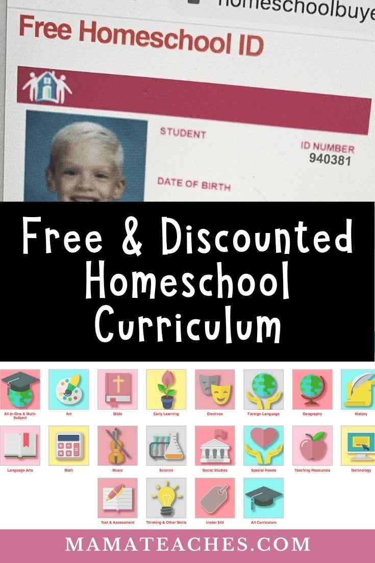 Free and Discounted Homeschool Curriculum