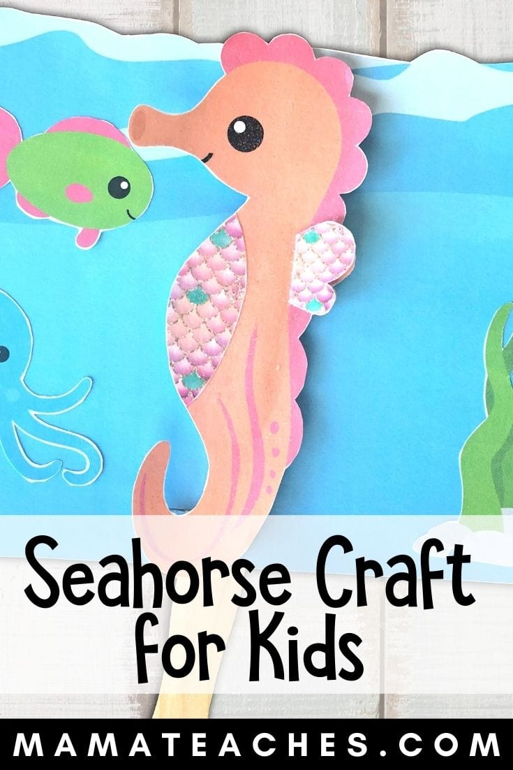 Easy Seahorse Craft for Kids