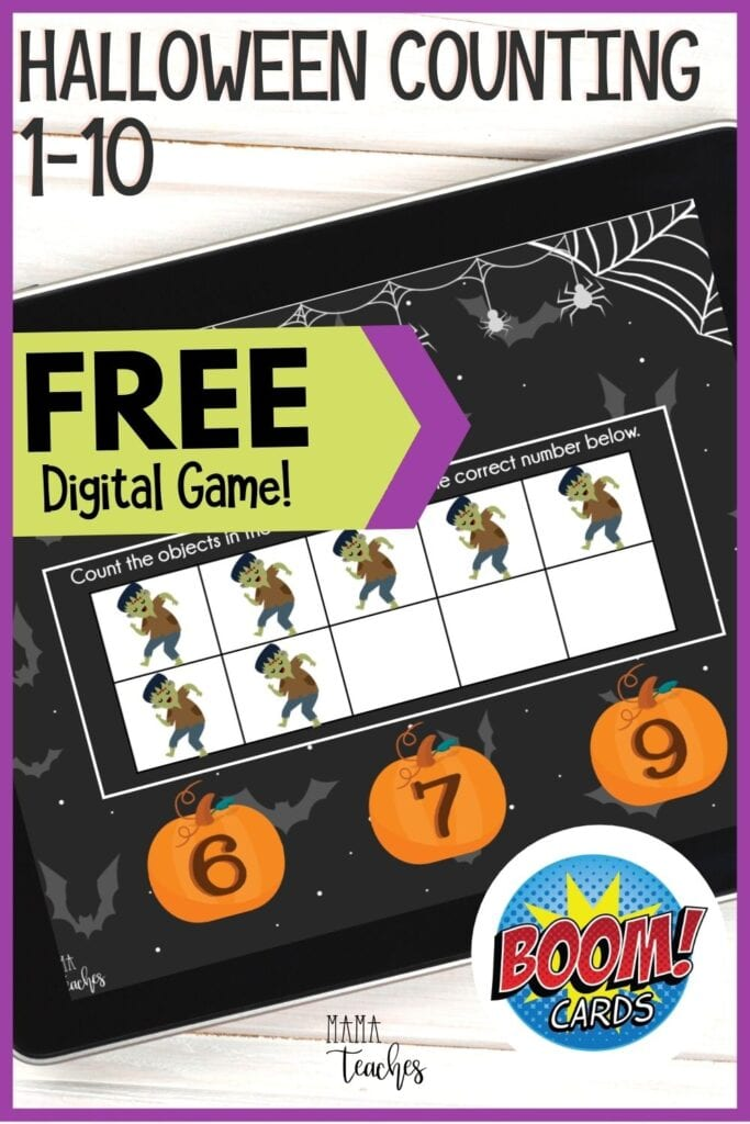 Halloween Counting Game for Kids