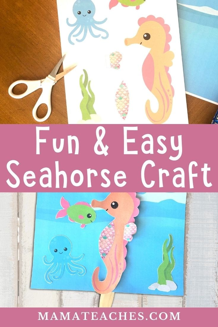 Under the Sea Seahorse Craft for Kids