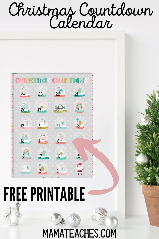 Free Printable Christmas Countdown Calendar for Kids