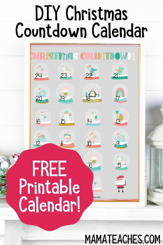 DIY Christmas Countdown Calendar Printable