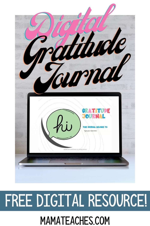 Digital Gratitude Journal for Students