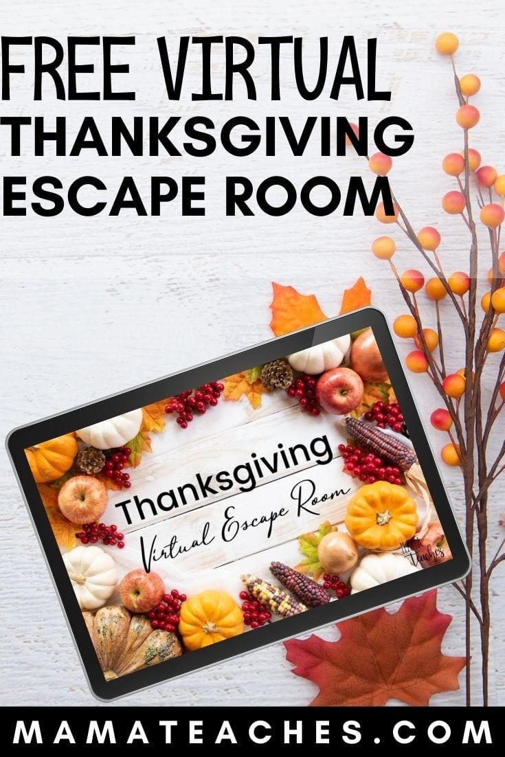 Free Virtual Digital Escape Room for Thanksgiving