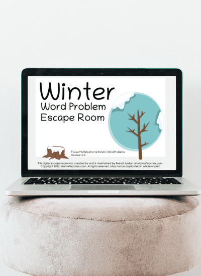 Winter Word Problem Virtual Escape Room