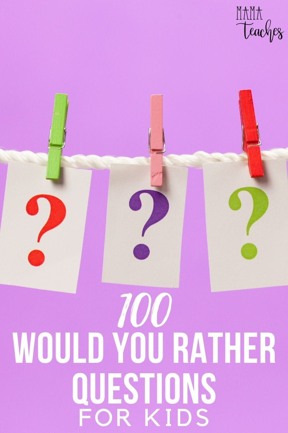 100 Would You Rather Questions for Kids - A fun game for home or school