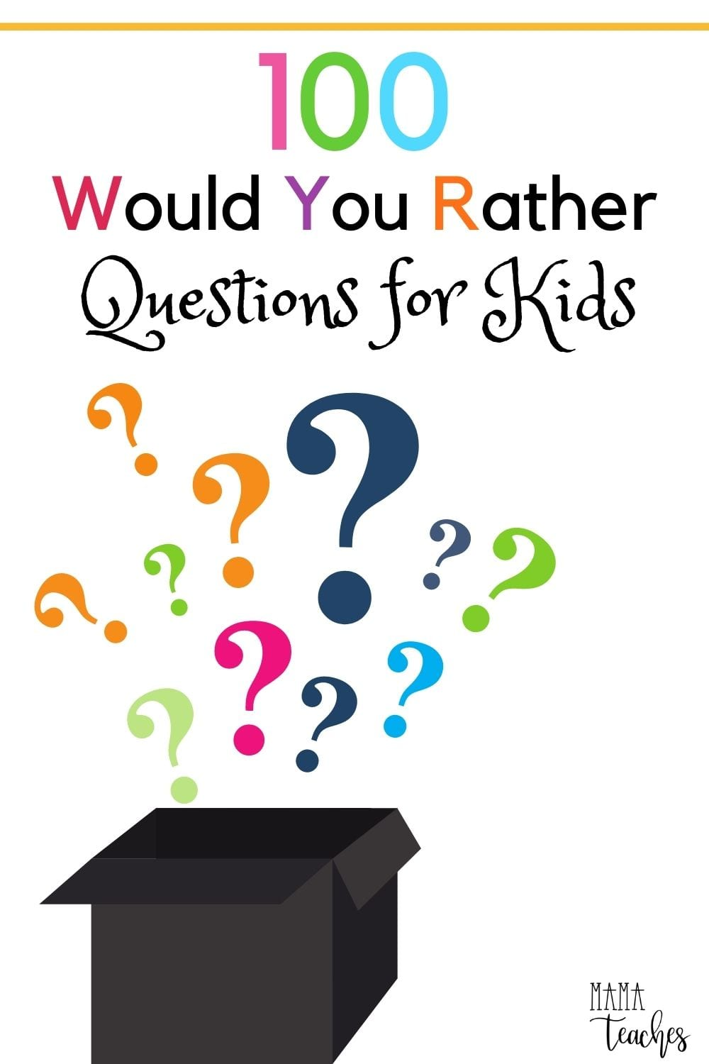 100 Would You Rather Questions for Kids