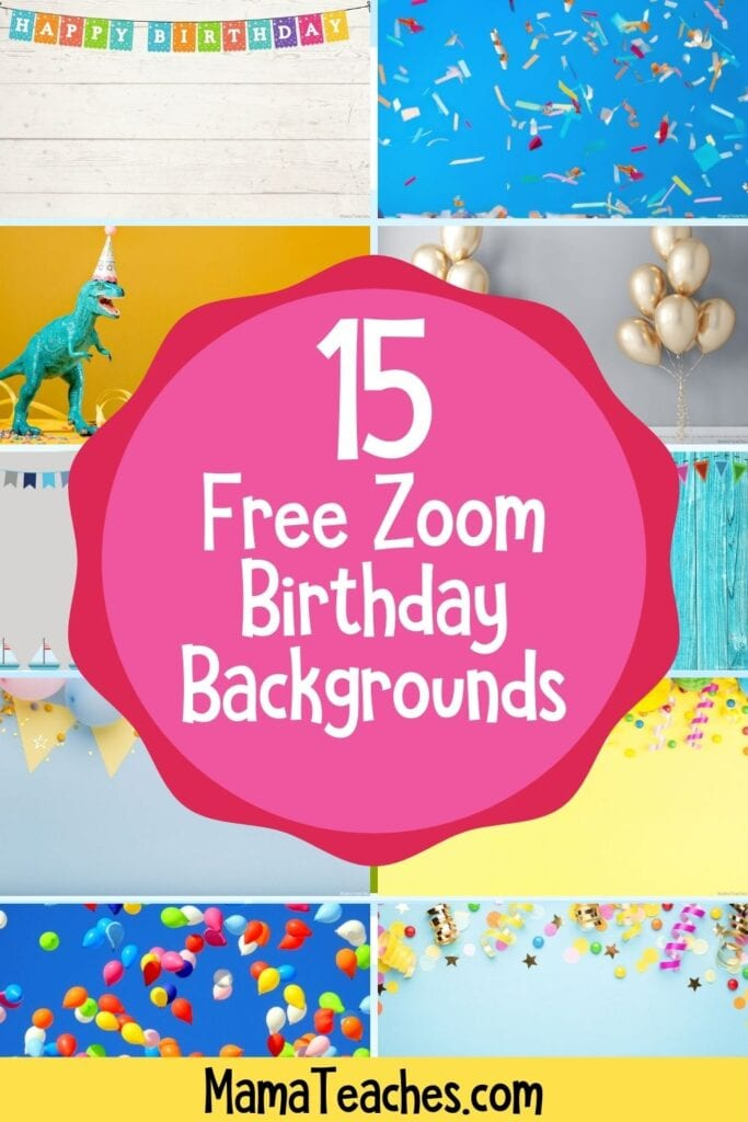 15 Free Zoom Birthday Virtual Backgrounds
