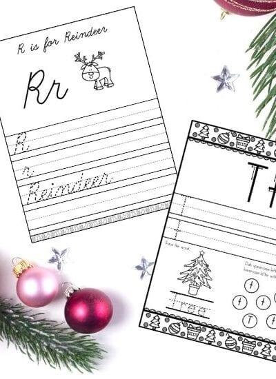 Christmas Alphabet Handwriting Worksheets