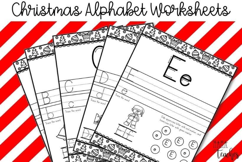 Christmas Alphabet Printing Worksheets