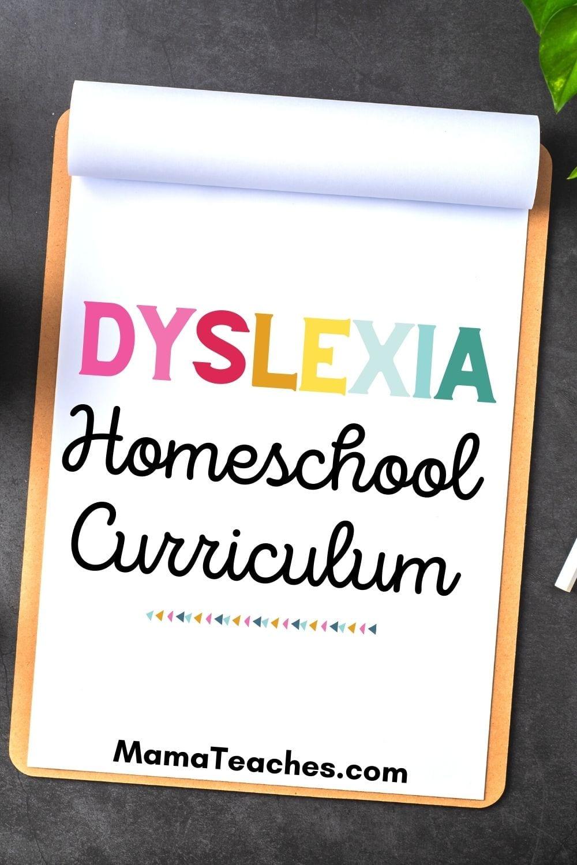 Dyslexia Homeschool Curriculum for Students