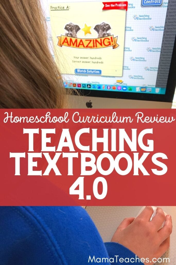 Homeschool Curriculum Review Teaching Textbooks 4.0