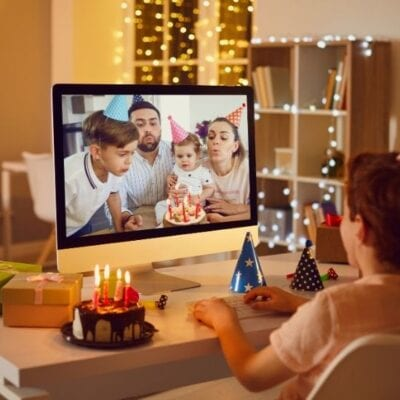 Virtual Zoom Birthday Party Ideas for Kids