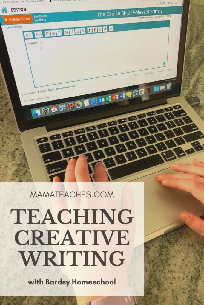Teaching Creative Writing with Bardsy Homeschool