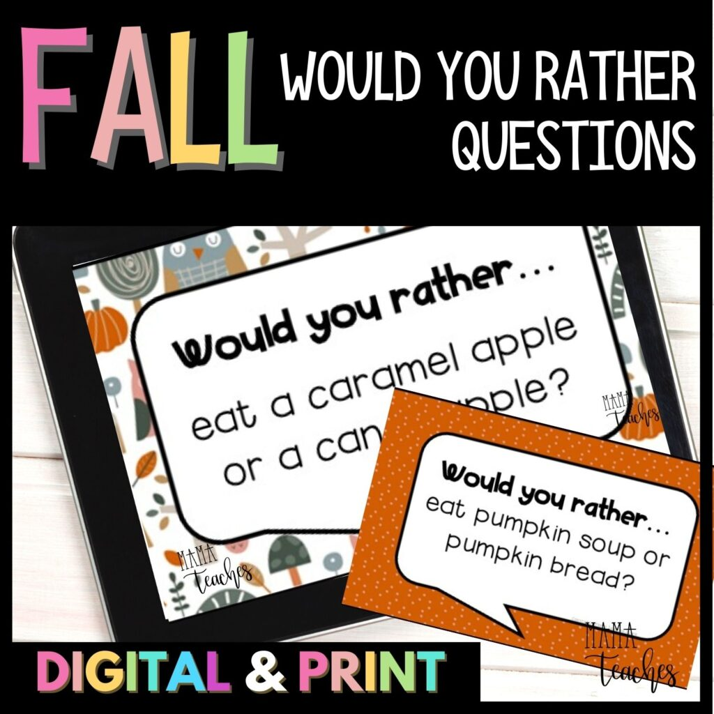 Fall Would You Rather Questions