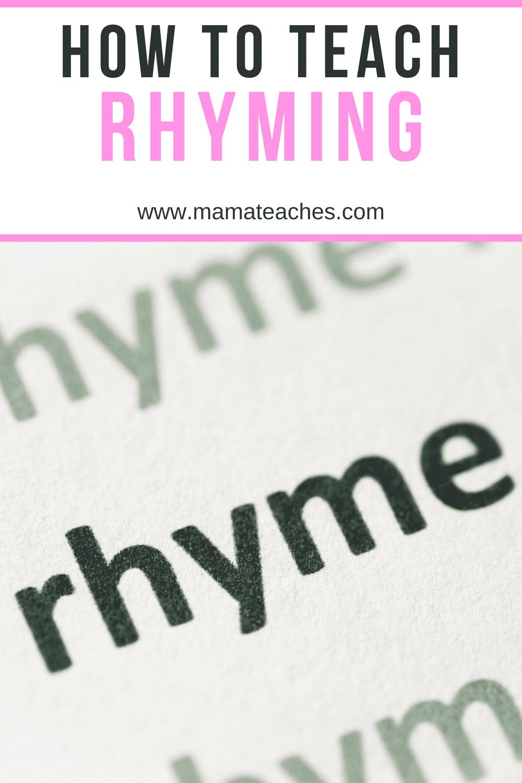 How to Teach Rhyming
