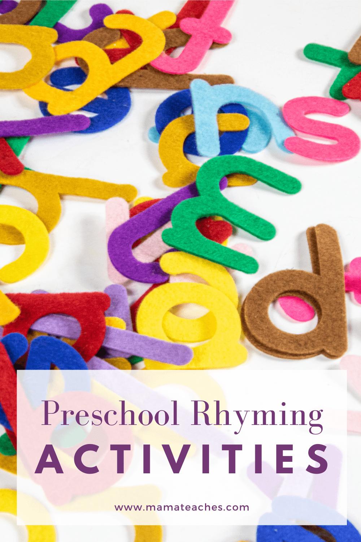 Preschool Rhyming Activities
