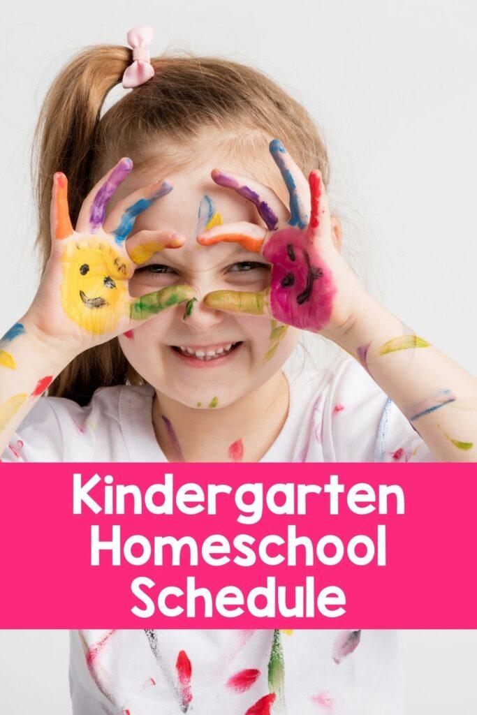 Kindergarten Sample Homeschool Schedule