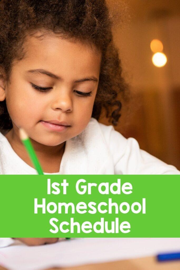 First Grade Sample Homeschool Schedule