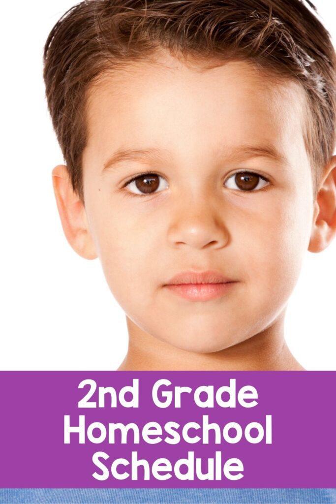 Second Grade Sample Homeschool Schedule