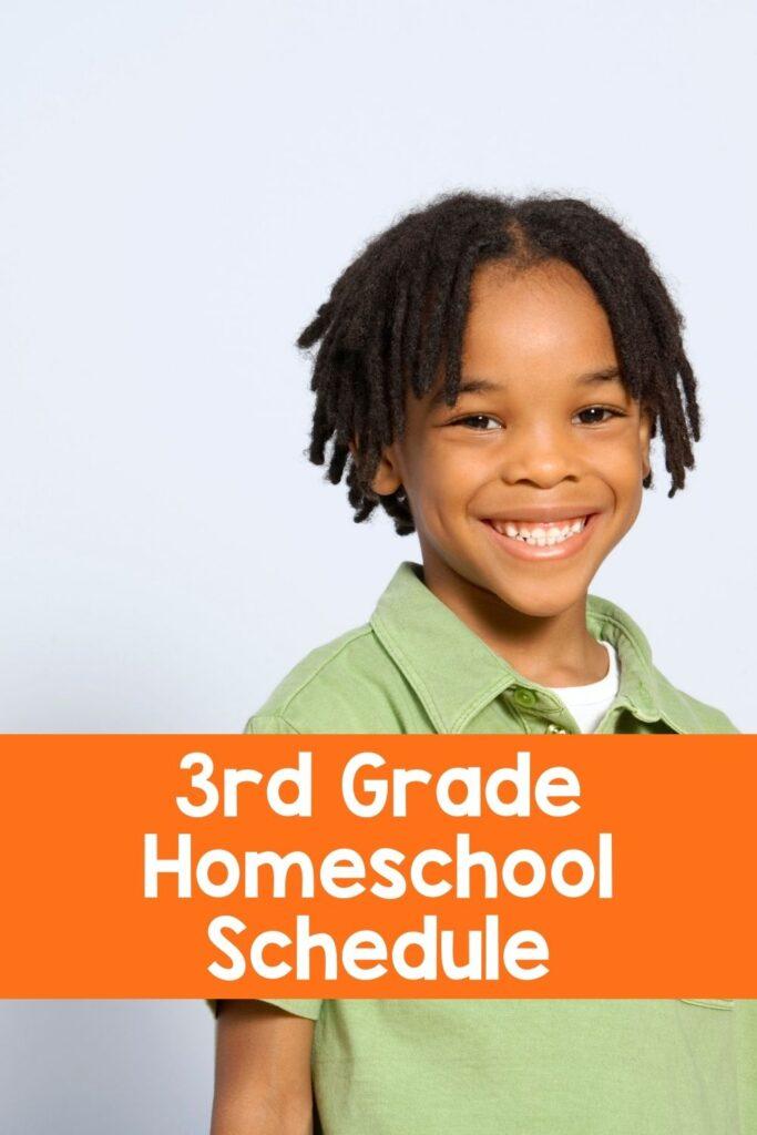 Third Grade Sample Homeschool Schedule