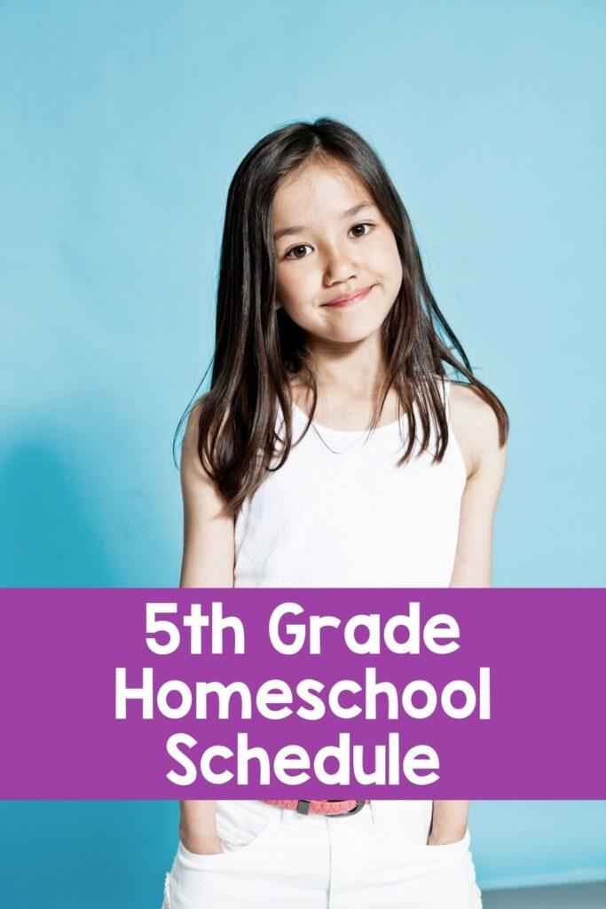 Fifth Grade Sample Homeschool Schedule