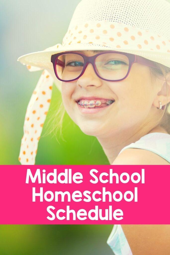 Middle School Sample Homeschool Schedule