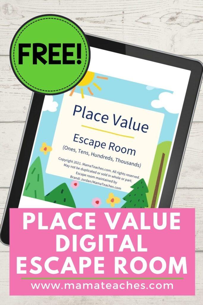 Free Place Value Digital Escape Room