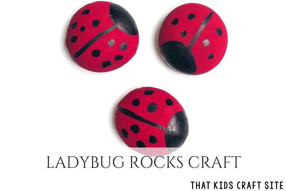 Ladybug Rocks Craft for DIY Desk Pets