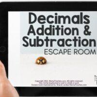 Decimals Addition & Subtraction Escape Room Answer Sheets