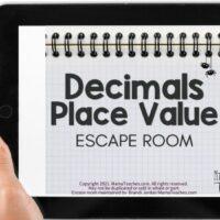 Decimals Place Value Escape Room